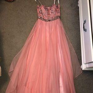 Sherri Hill Pink Sequin Prom Dress